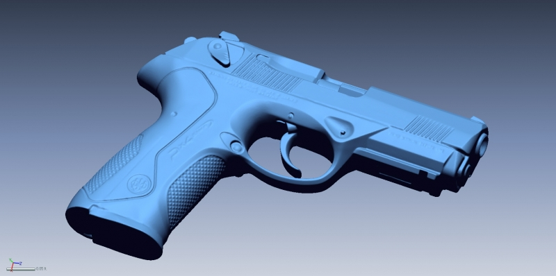 Beretta PX4 scan 1 3D Scanning & Inspection of Weapons