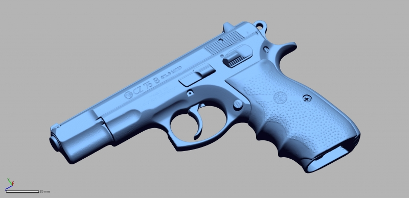 CZ 75 B 9mm Luger 3D Scanning & Inspection of Weapons
