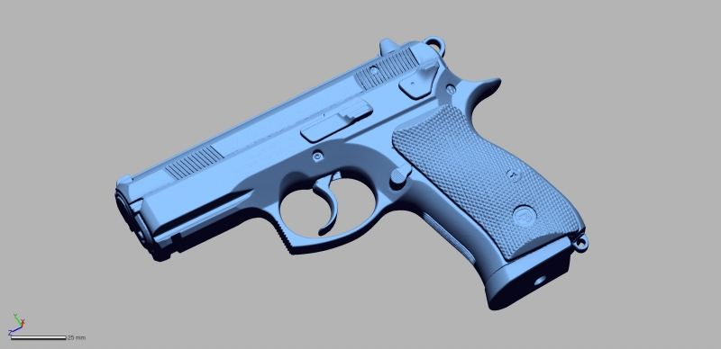 CZ 75P 01 9mm 3D Scanning & Inspection of Weapons