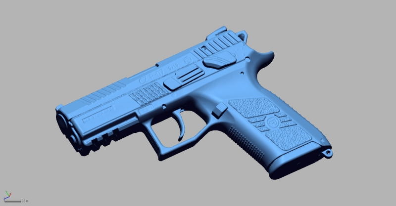 CZ P 07 9MM 3D Scanning & Inspection of Weapons