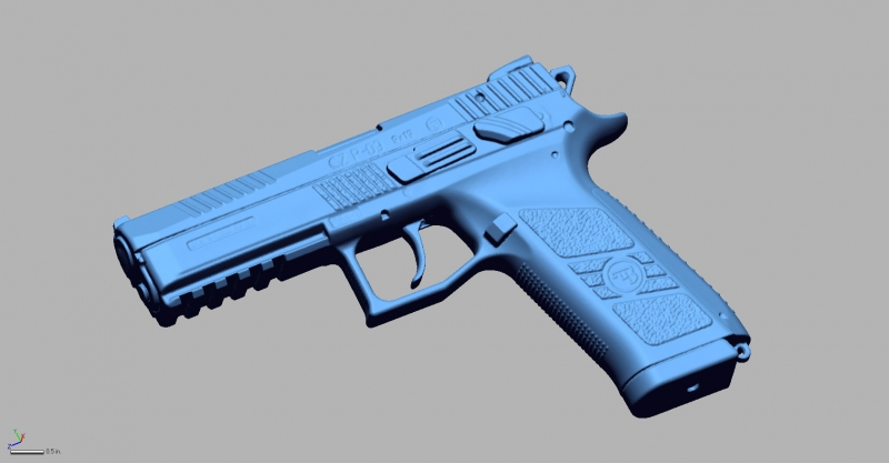 CZ P 09 9MM 3D Scanning & Inspection of Weapons