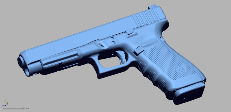 Glock 41 gen 4 45auto 3D Scanning & Inspection of Weapons