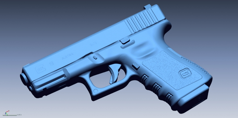 Glock 19 scan 1 3D Scanning & Inspection of Weapons