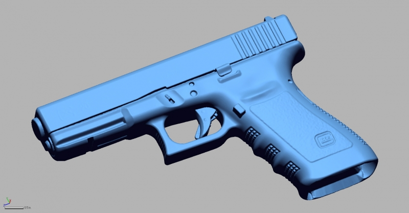 Glock 20 10mm 3D Scanning & Inspection of Weapons