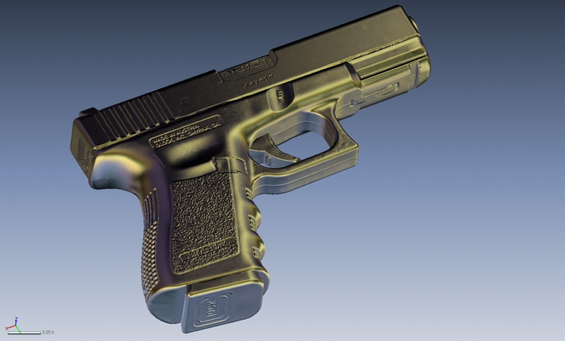 Glock 4 3D Scanning & Inspection of Weapons