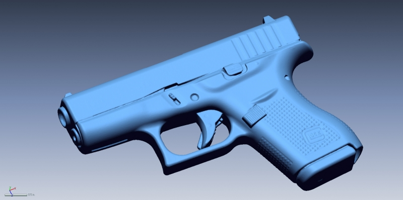 Glock 42 scan 1 3D Scanning & Inspection of Weapons