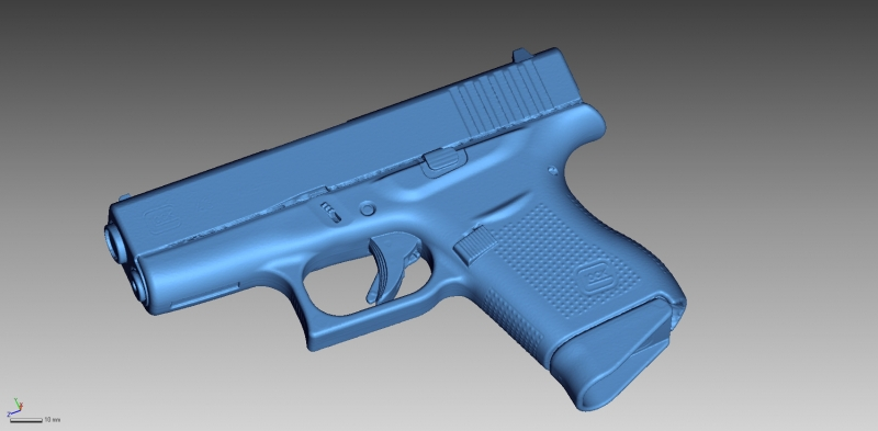 Glock 43 3D Scanning & Inspection of Weapons