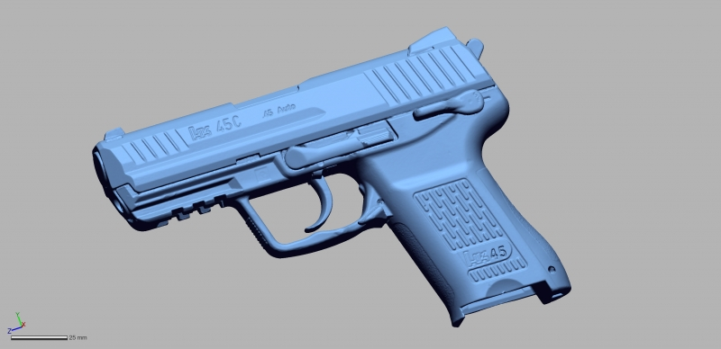 HK 45C 45auto 3D Scanning & Inspection of Weapons
