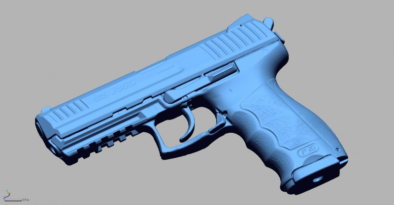 HK P30L 9mm 3D Scanning & Inspection of Weapons