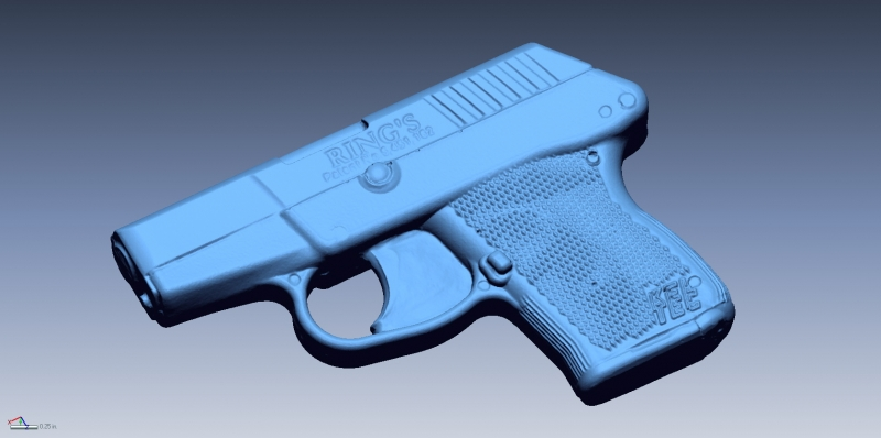 Keltec blue gun 3D scan data