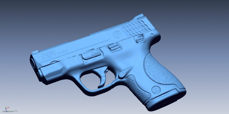 Smith & Wesson M&P SHIELD 3D Scan data