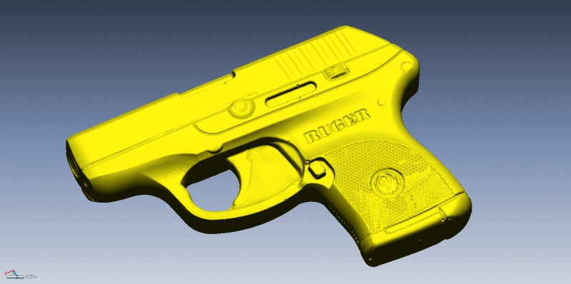 Ruger Bluegun 3D scan data