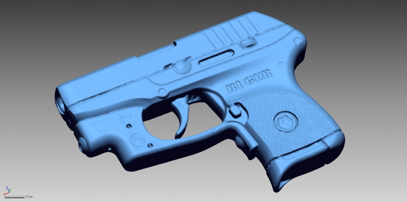 Ruger LCP 3D Scan data