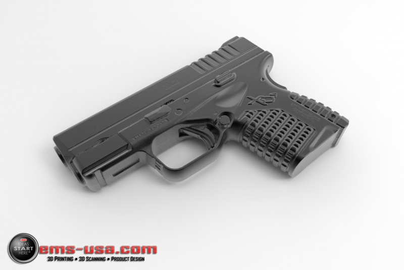 Springfield Armory XDs - rendering from 3D scan data