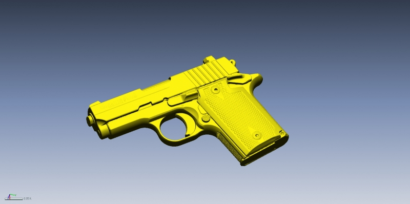 Sig Sauer P938 3D scan data