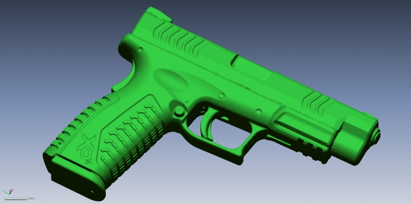 Springfield Armory XD9 3D Scan data