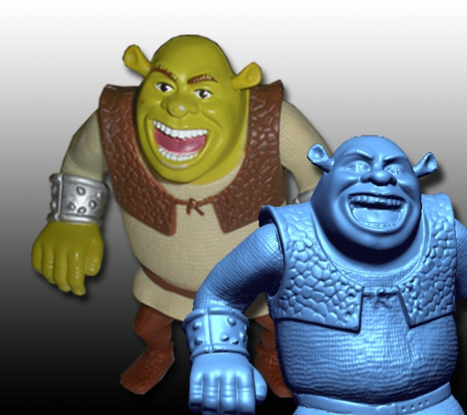 Shrek toy 3D scan