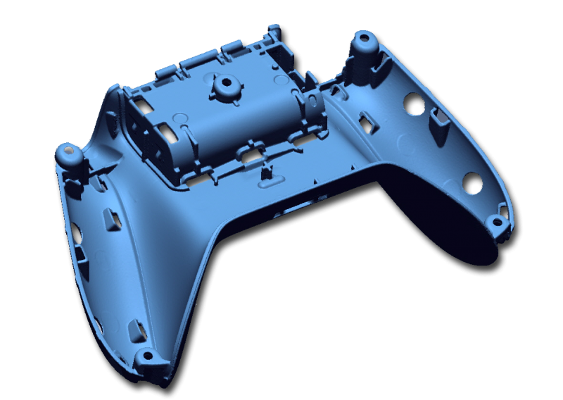 Game controller housing part high resolution 3D scan