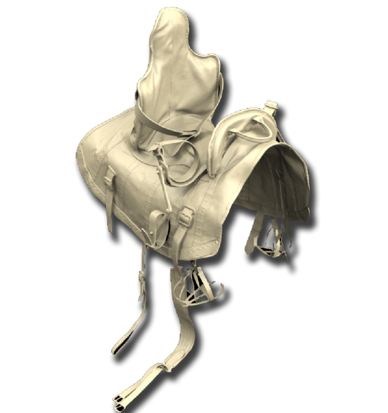 HBO Game Of Thrones Brans Saddle 3D Scan data