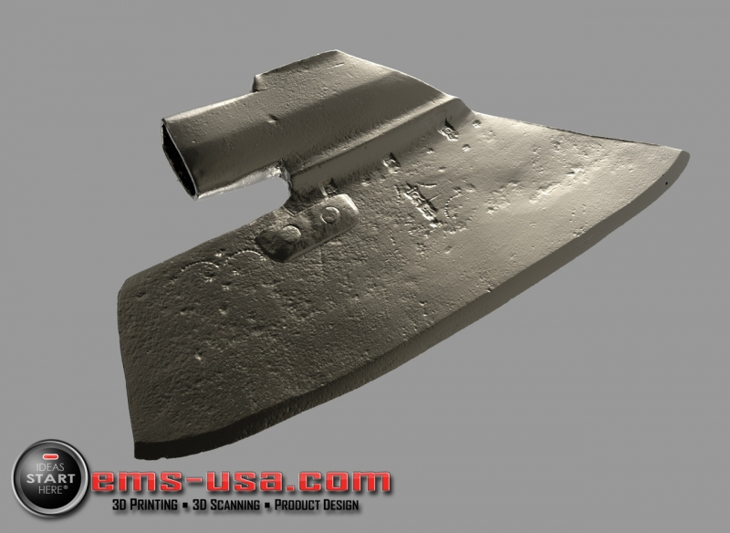 Rendering of 3D Scan data - notice the extreme resolution