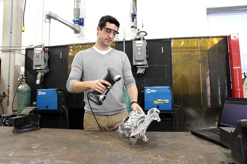 Creaform HandSCAN quickly 3D scans a metal part