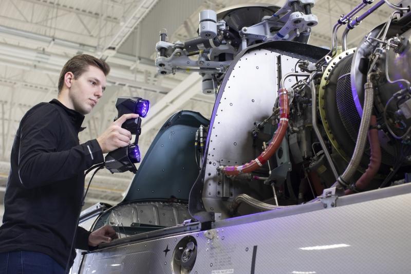 HandySCAN BLACK Elite 3D Scanner Helicopter Motor HandySCAN 3D