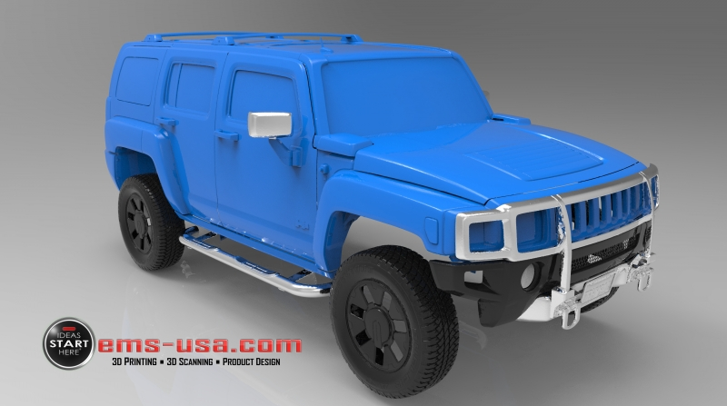 EMS Hummer Exterior 3D Scan Data 1 Automotive