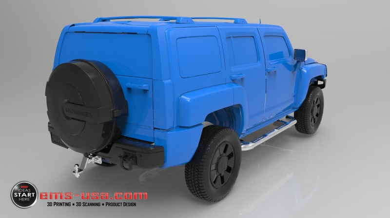 EMS Hummer Exterior 3D Scan Data 2 Automotive