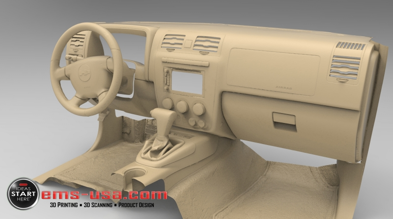 EMS Hummer Interior 3D Scan Automotive