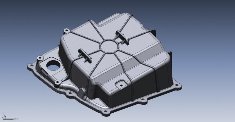 Lamborghini Huracán oilpan 3D CAD data