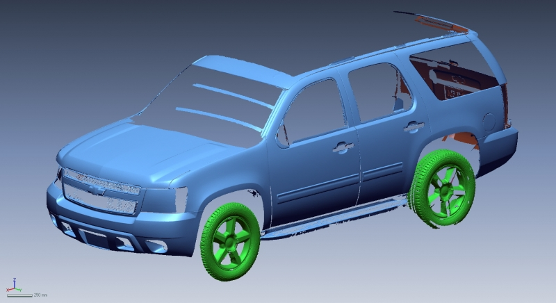 Chevy Tahoe 3D scan data
