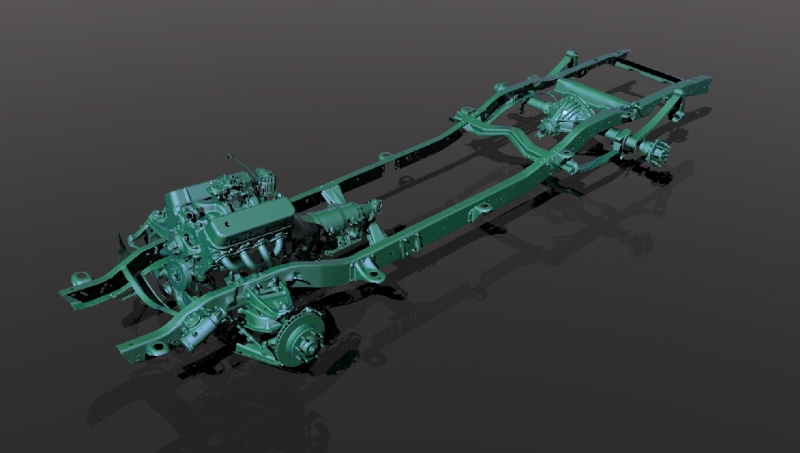 3D scan of a truck frame
