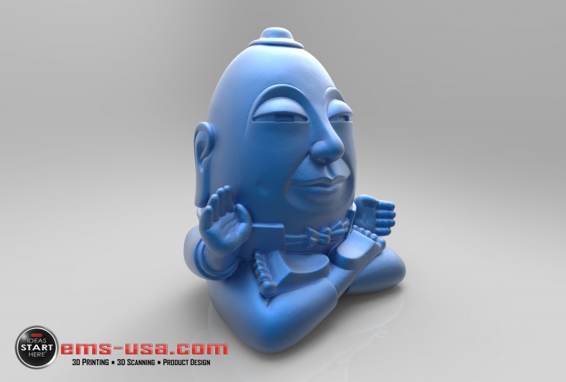 Humpty Dumpty sculpture scan and render