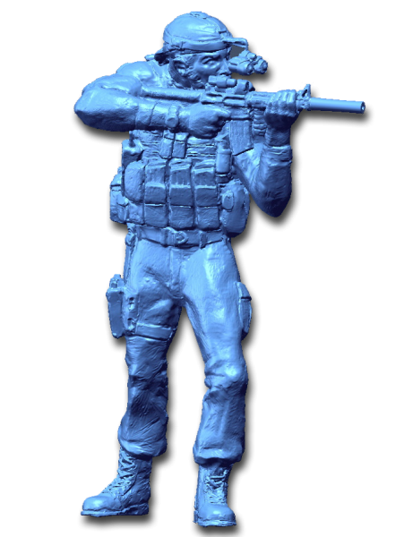 3D Scan data of Seal Team 6 model