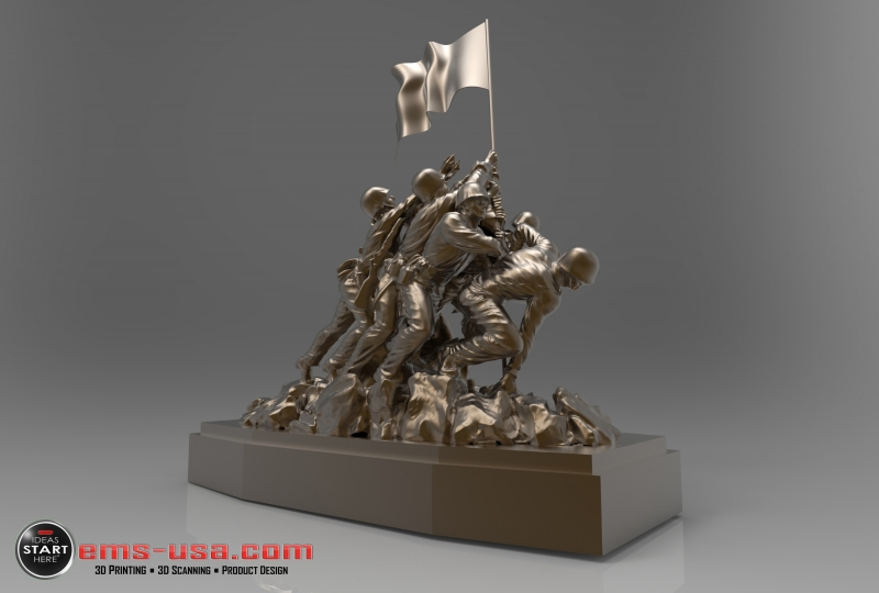 Iwo Jima statue 3D scan and render