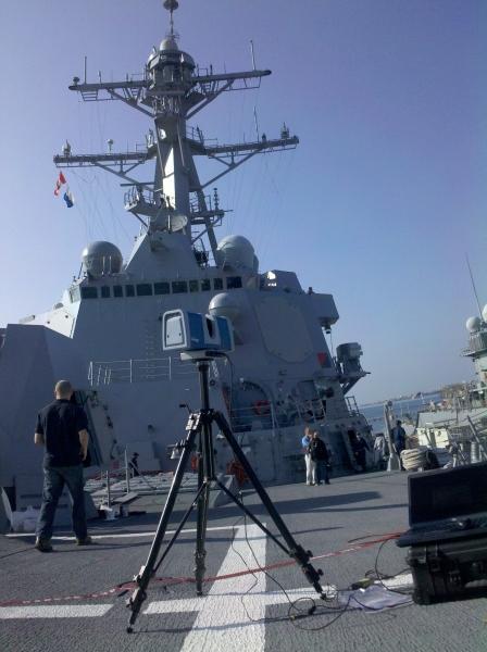 Warship 3D scanning