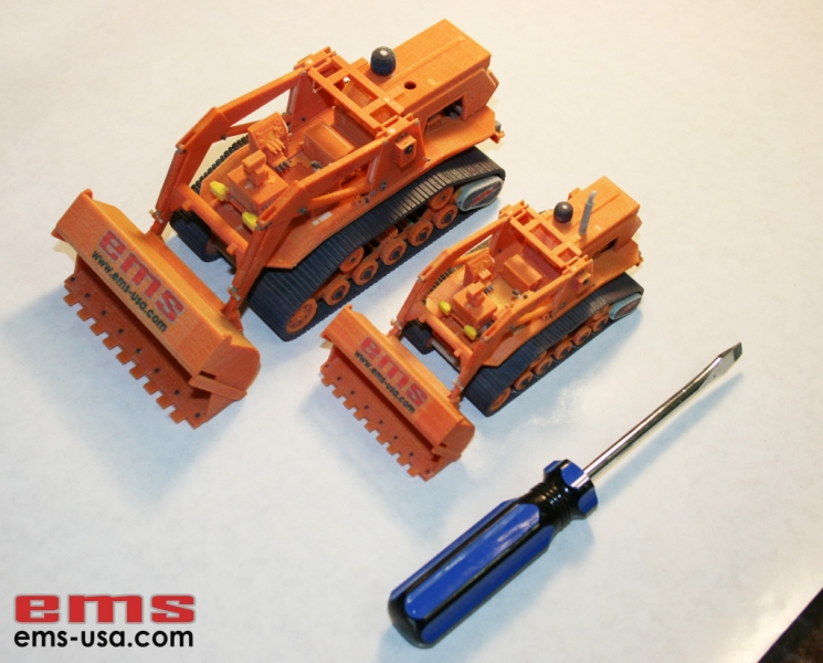 3D Print of bulldozer models