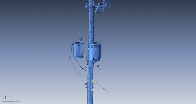3D Scan of electrical pole