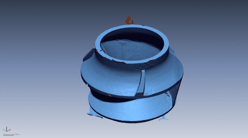 Large impeller 3D scan