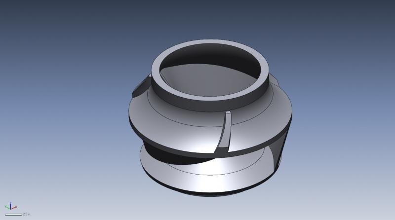 Large impeller 3D CAD model