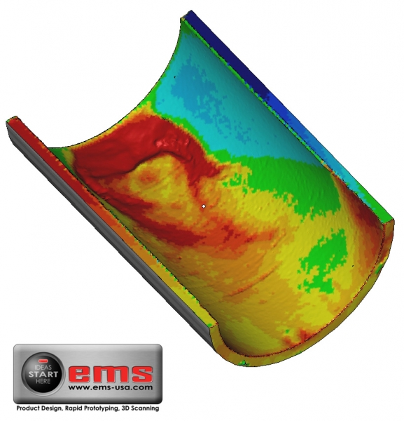 3D Scan of pipe corrosion