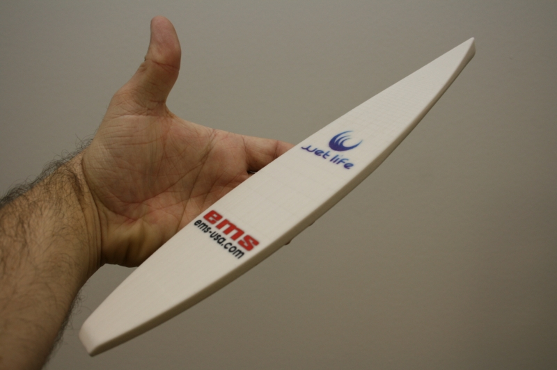 3D print of a paddle board