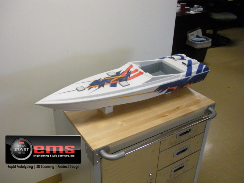 3D Print of a race boat