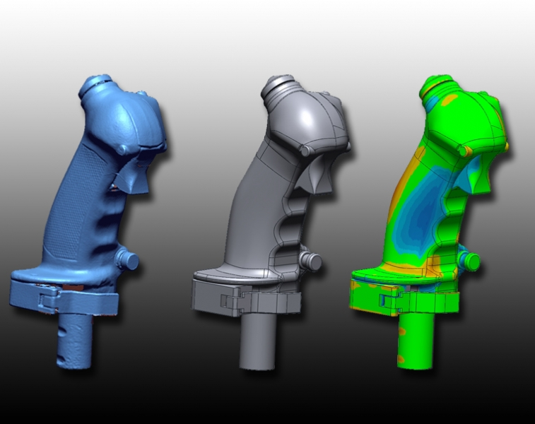 Flight grip 3D scanning stages