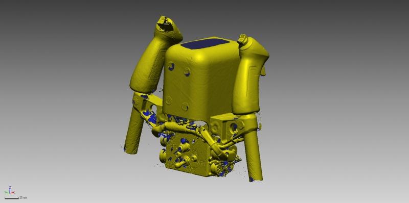 Aircraft control 3D scan data