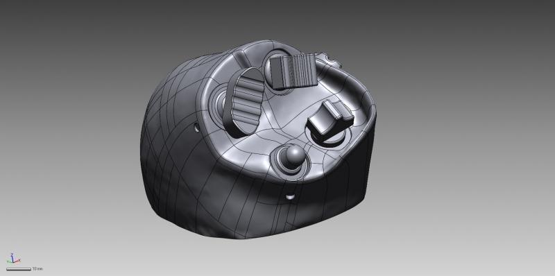 Aircraft control 3D CAD data