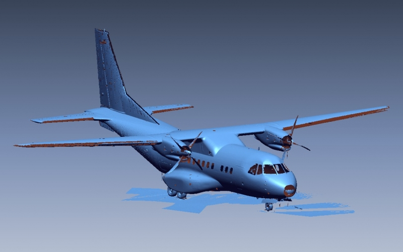 3D Scan data of CASA aircraft