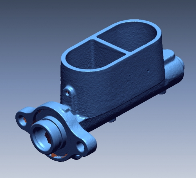 Brake fluid reservoir 3D Scan data