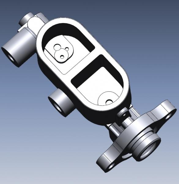 Brake fluid reservoir 3D CAD data
