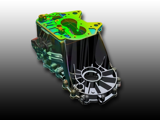 Comparing the completed CAD model to the 3D scan data
